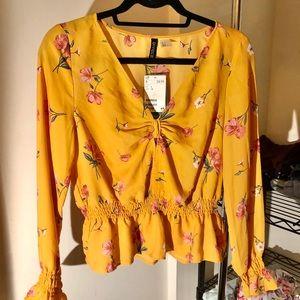 Golden Yellow Flower Power Top